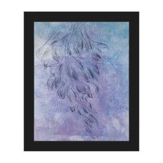 Horizon 'Cool Wisteria' Canvas Framed Wall Art