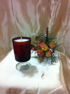ARCOROC Ruby Red Small Cavalier Glass, $11.95 NZD Soy Wax Candles, Candle Jars, Candle Holders, Vintage Candles, Ruby Red, Cavalier, Pottery, Table Decorations, Glass
