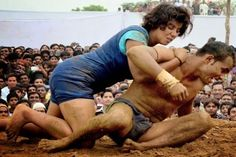 Women can't beat men? Think about it. Because this 17-year old wrestler challenged a well known heavy weight wrestler and defeated him in front of huge crowd.  BTW, her name is Neha Tomar and she is from Haryana. Got it, men?