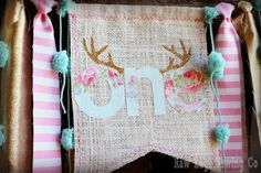 Hey, I found this really awesome Etsy listing at https://www.etsy.com/listing/290579055/pink-gold-aqua-deer-antlers-high-chair