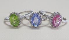 White Gold Gemstone & Diamond Rings!