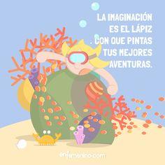 ¡Imaginación al poder! #frasedeldia #imaginacion