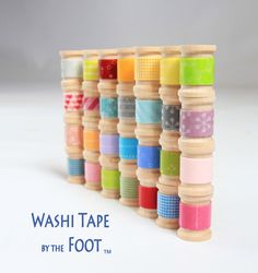 Wooden Spools of Japanese Washi Tape Choose Your Colors