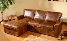 Buy Seattle Aniline Leather Corner Sofas at Furniture Choice