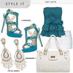 Frances blue outfit! shoedazzle.com