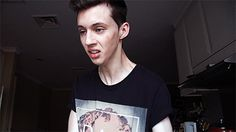 when my hand touches a peice of food when washing the dishes-Troye Sivan