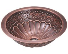 Brilliant details and an intricate design make this MR Direct single-bowl copper bathroom sink the perfect addition to your bathroom. The stain-resistant properties of the metal make this sink an excellent addition to busy bathrooms. Rustic Bathroom Sinks, Copper Bathroom, Vessel Sink Bathroom, Bathroom Fixtures, Bathroom Ideas, Brown Bathroom, Plumbing Fixtures, Bath Ideas, Bathroom Things