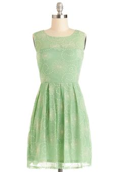 Crisp Morning Air Dress in Mint. This would look good with those purple flowers.