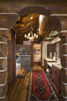 3 bath/handcrafted log home