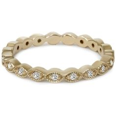1/3CT Stackable Diamond Wedding Eternity Ring 14K Yellow Gold