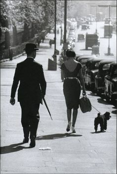 A street scene in Piccadilly, London, 1959s...England.. Photo by Frank Horvat