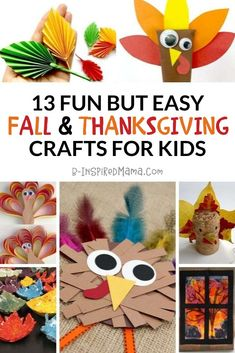 Get in the spirit of Autumn, decorate the house, and spend quality time crafting with these fun (but easy) Fall and Thanksgiving crafts for kids! #kids #kidscrafts #crafts #thanksgiving #fall #autumn #thanksgivingcrafts #fallcrafts