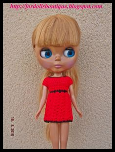 Handmade clothes ropa for Blythe dolls clothing: dress (doll not included)