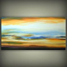 Large HUGE sunrise painting cloud painting original by mattsart