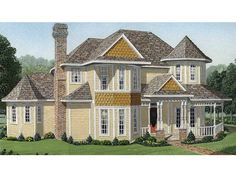 Home Plan HOMEPW11576 is a gorgeous 2727 sq ft, 2 story, 4 bedroom, 2 bathroom plan influenced by  Country  style architecture.