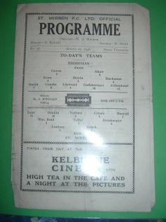 St Mirren v Hibernian March 1948 Championship season