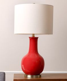 Look at this Red Gourd Ceramic Table Lamp on #zulily today!