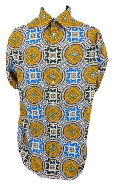 Enyce Clothing Shirt Retro Geometric Size 3XL XXXL Button Front Longt Sleeve #EnyceClothing #ButtonFront SOLD