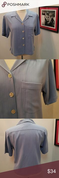 Tommy Bahama XS Blue Silk Blouse Tommy Bahama XS 100% Silk Light Blue Blouse in great condition! Tommy Bahama Tops