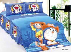 Doraemon Nobita comforter bedding set single twin size quilt duvet cover sheets cotton 400TC Children's Boy's bedroom decor Blue #Affiliate