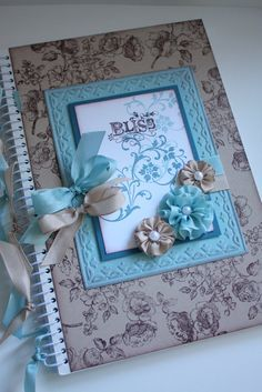 De Stampin' Corner: Bliss Altered Note Book