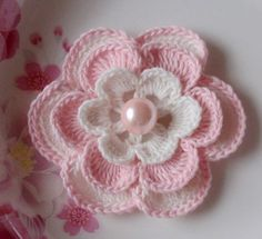 Larger Crochet Flower in 31/4 inches
