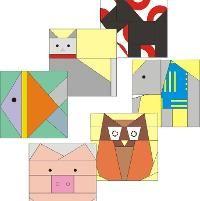 Set of six animals paper pieced blocks - via @Craftsy