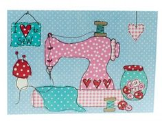 8 I Love to Sew Postcards [DSPC010] - £4.50 : Grace & Home Ltd