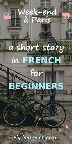 An easy French text for beginners! Because reading is the best way to learn a foreign language. Learn French Online, Learn To Speak French, Learning Cards, Ways Of Learning, Learning French, French Tutorial, Read In French, French Articles, Phrase Book