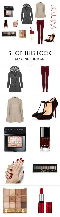"""""""Winter's coming...☃"""" by sundancelover ❤ liked on Polyvore featuring WearAll, AG Adriano Goldschmied, Topshop, Christian Louboutin, Bobbi Brown Cosmetics, Chanel, Forever 21 and Sigma"""