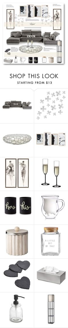 """""""P......"""" by stranjakivana ❤ liked on Polyvore featuring interior, interiors, interior design, hogar, home decor, interior decorating, Dot & Bo, Riedel, Kate Spade y blomus"""