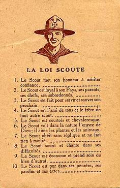 Groupe St Francois Beauce-Gatinais Pithiviers » La loi scoute