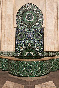 Moroccan Pattern Fountain by Beum เบิ้ม Portƒolio, via Flickr
