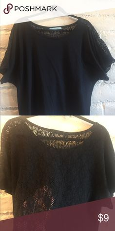 Black, lace back top This top is dolman style Maurices Tops Blouses