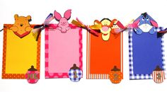 Monthly Photo Banner NB to 12 Months Winnie The Pooh Themed Birthday Party Banner by ScrapsToRemember on Etsy