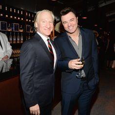 Pin for Later: Die Stars feiern ausgelassen nach den Oscars Bill Maher und Seth MacFarlane