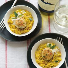 Chicken polpette with saffron orzo recipe from Little Italy by Nicole Herft | Cooked