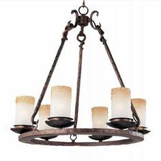 LightingShowroom.com: Notre Dame Oil Rubbed Bronze Chandelier, $348.00