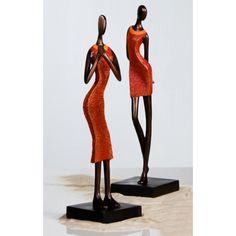 Figur Skulptur Women Exotic Afrika 2 Frauen