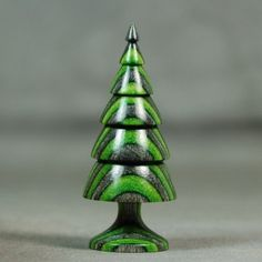 Christmas Tree ! Hand Turned Collectible Miniature by IGMA Artisan