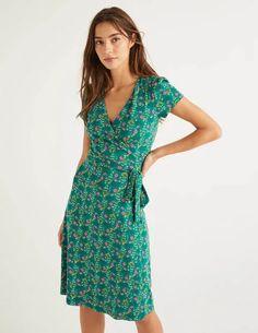 Forest Garden, Halo, Wrap Dress, Short Sleeve Dresses, Couture, Summer Dresses, Elegant, Fabric, Women's Fashion