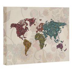 Valentina Ramos Paisley World Art Canvas | DENY Designs Home Accessories