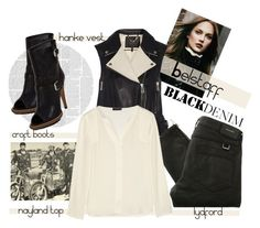 """""""Black & Ivory from Belstaff"""" by kateo ❤ liked on Polyvore featuring Belstaff, women's clothing, women's fashion, women, female, woman, misses, juniors, belstaff and blackdenim"""