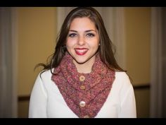 "Bufanda Cuello a Crochet con Botones ""Odet"" Tutorial por Maricita Colours - YouTube"