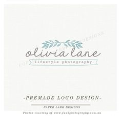 Photography Logo Design Custom Premade by PaperLarkDesigns, $39.95 See it here: https://www.etsy.com/listing/161519484