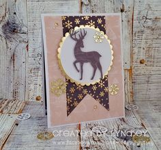 Beautiful reindeer design on Lyndsey's make using the Christmas Promise papers