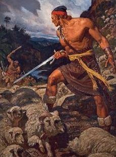 Ammon Defends The Flocks Of King Lamoni - By Arnold Friberg