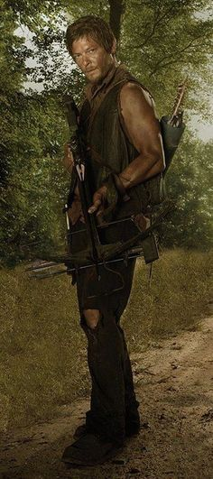 Not even a comic book character they wrote him and Merle into the show. He's sexy no wonder!!!