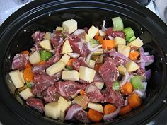 Paleo Beef Stew - crockpot - made this without rutabaga, just added more sweet potato. It was yummy. The hubs had 2 big bowls! Primal Recipes, Real Food Recipes, Great Recipes, Favorite Recipes, Healthy Recipes, Yummy Recipes, Yummy Food, Slow Cooker Recipes, Crockpot Recipes