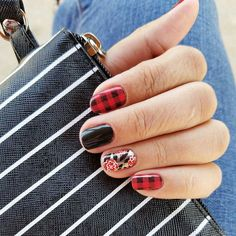 LOVE this combo- Friday Flannel, Matte Black, and Wild Rose with TruShine over all of them order yours at lacretastewart.jamberry.com